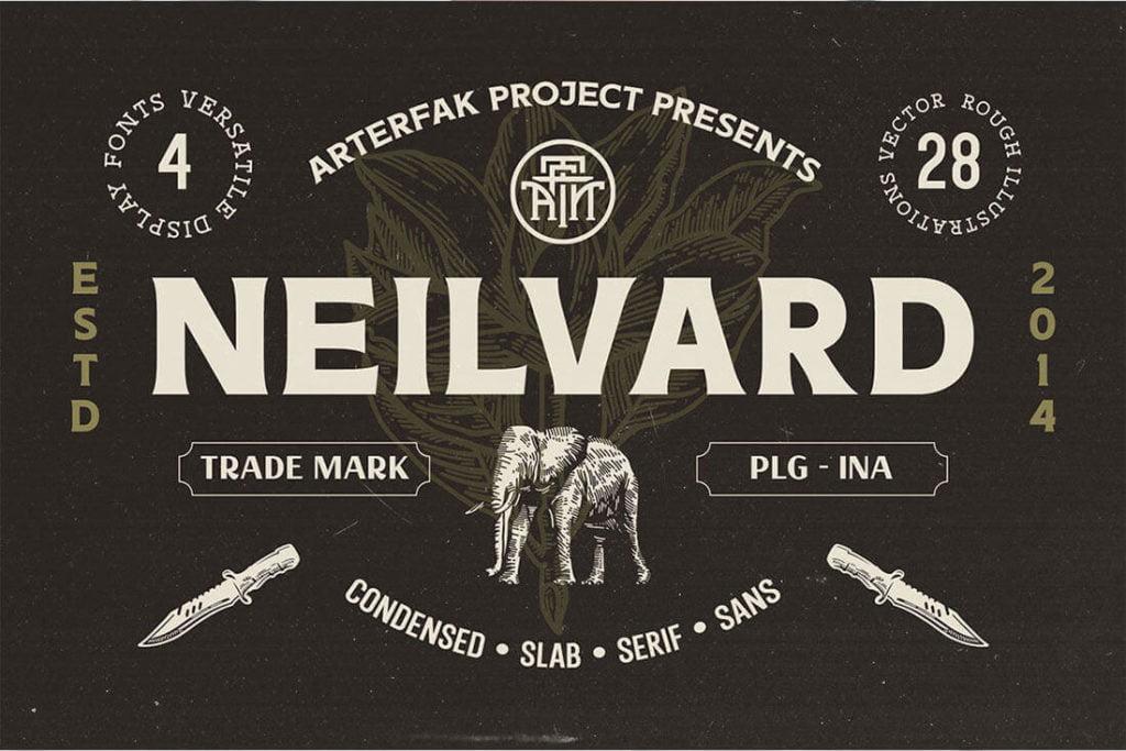 Neilvard Vintage Font Family Bundle