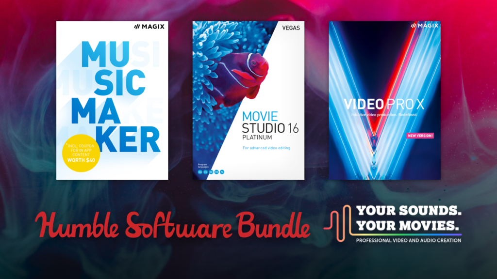 Humble Software Bundle: Professional Video and Audio Creation
