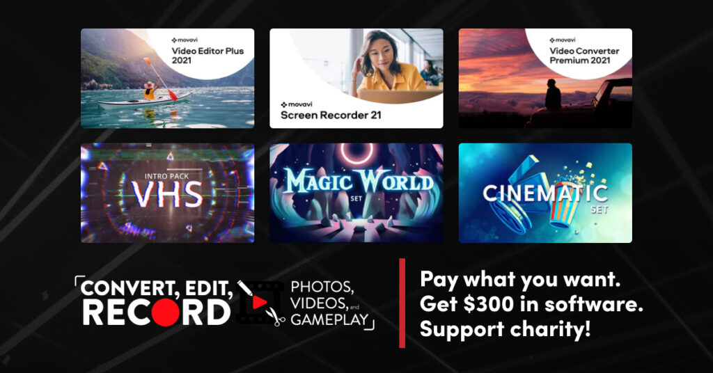 Convert, Edit, Record Your Photos, Videos and Gameplay Bundle